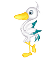 cute little heron cartoon vector image vector image