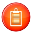 Document plan icon flat style vector image vector image