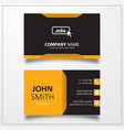 domain edu icon business card template vector image vector image