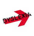 dyslexia rubber stamp vector image vector image