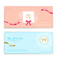 festive gift certificate voucher gift card or vector image vector image