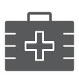 first aid kit glyph icon health and clinical vector image vector image