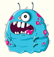 Funny blue monster vector image vector image