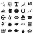 game of chance icons set simple style vector image vector image