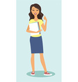girl shoiwing thumbs up vector image vector image