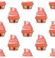glazed donuts flat seamless pattern vector image vector image