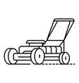 grass cutter icon outline style vector image