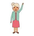 happy old woman grandma standing cartoon vector image