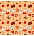 Hipster pattern for cafe vector image vector image