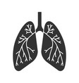 human lungs with bronchi and bronchioles glyph vector image vector image