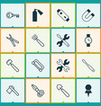 Instrument icons set collection of password vector image
