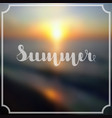 lettering summer in white color on abstract blurry vector image