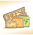 logo of cheese vector image