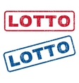 Lotto Rubber Stamps vector image vector image