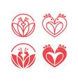 love bird logo set vector image vector image
