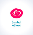 Love symbol logo template Two hearts vector image vector image