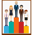 Man and woman on bar chart vector image