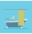 modern design shower room with a curtain vector image vector image