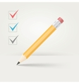 office wooden pencil vector image vector image