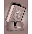 opened book tattoo vector image vector image