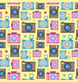 photo camera icon flat style seamless pattern vector image vector image
