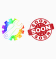 rainbow colored dotted gear tools icon and vector image vector image
