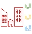 Real estate Set of line icons vector image vector image