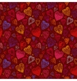 Romantic seamless pattern with vintage cartoon vector image vector image