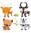 Savana Wild Animal Vetor Pack vector image vector image