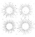 Set of vintage circle hand drawn ray frames vector image vector image