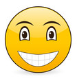 smile emoticon vector image vector image