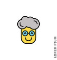 smile yellow boy man icon happy laughing vector image vector image