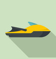 sport jet ski icon flat style vector image vector image