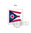 State of Ohio flag postage stamp vector image vector image