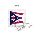 State of Ohio flag postage stamp