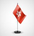 Table flag of Hong Kong vector image vector image