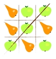 Tick-tack-toe with apples and pears vector image vector image