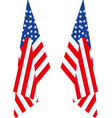 us flag hang vector image vector image