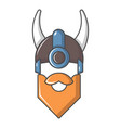 viking in horned helmet icon cartoon style vector image vector image