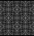 vintage line art tracery seamless pattern vector image