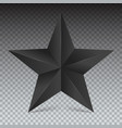 volumetric five-pointed star icon classic vector image vector image