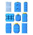 water tanks set various barrels in cartoon vector image vector image