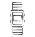 wristle watch isolated icon vector image vector image