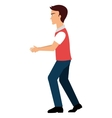 Young male walking isolated colorful cartoon vector image vector image