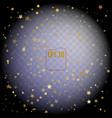 golden confetti glitters festive of falling shiny vector image