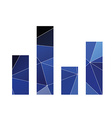 equalizer icon Abstract Triangle vector image