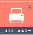 print icon for web vector image