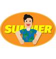 a man enjoying summer vector image vector image