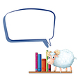 A sheep in the library with an empty callout vector image vector image