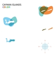 Abstract color map of Cayman Islands vector image vector image